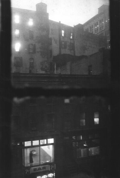 John Cohen, 'Tanager Gallery, 10th Street, Lois Dodd Standing in the Window', 1959