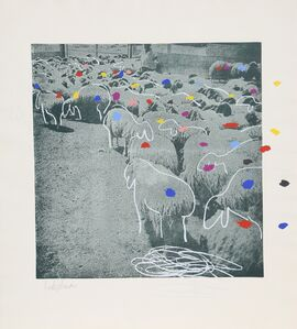 Menashe Kadishman, 'SHEEP Portfolio, 3', 1981