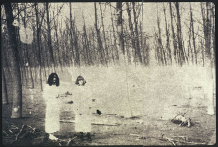 Deborah Turbeville, 'Women In The Woods: Isabella and Ella in Blumarine, VOGUE Italia, Montova, Italy', 1977