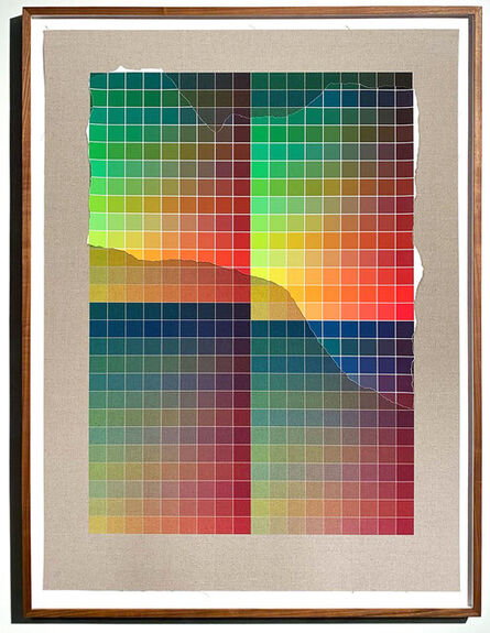 Analía Saban, 'Transcending Pigment from Paint to Canvas, from Canvas to Paint (Color) #2 No. VIII', 2020