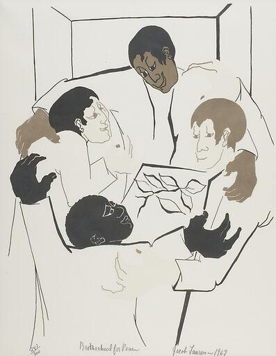Jacob Lawrence, 'Brotherhood for Peace', 1967