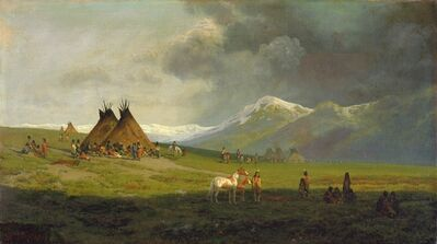 Ransome Gillet Holdredge, 'Montana Encampment', not dated