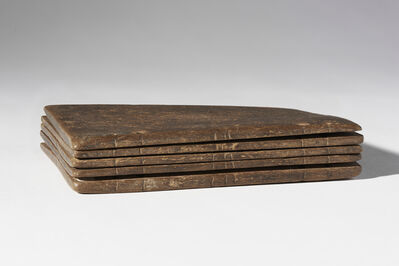 Unknown Artist, ' Codex composed of five waxed tablets containing writing exercises', 4th century AD