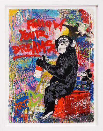 Mr. Brainwash, 'Follow Your Dreams (Unique Painting)', 2020