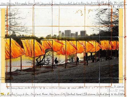 Christo, 'The Gates (project for Central Park, New York City)', 2002