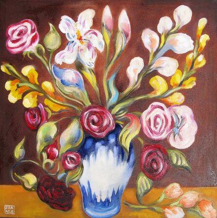 Zoa Ace, 'Bouquet on Brown', 2015