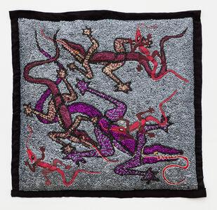 Tina Girouard, 'Red Lizards (Silver bgd)', 1992-1998