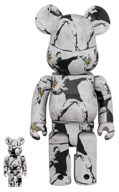 Brandalism, '(after) Banksy Flower Bomber Bearbrick 400%', 2020