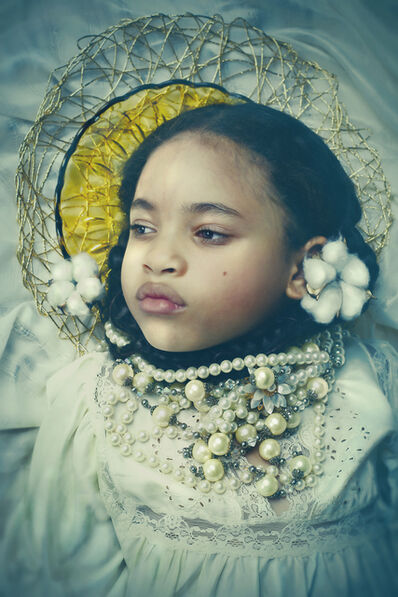 Tokie Rome-Taylor, 'Ancestors Speak...Soft as Cotton 1- Contemporary Portrait of Young Girl by Black Female Artist', 2020