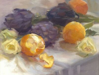 Mary Beth Karaus, 'Oranges and Purple Artichokes', 2008