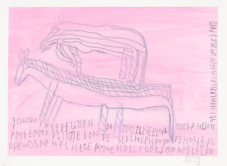Jose Nunez, 'Untitled (2 Caballos on Pink)', 2013