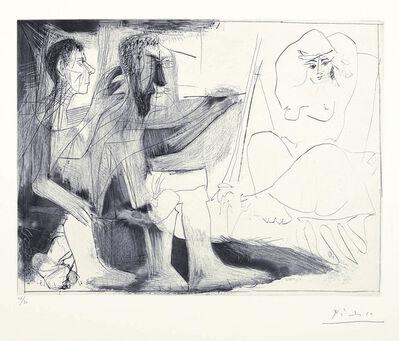 Pablo Picasso, 'Peintre au travail [Peintre barbu avec modele nu et un spectateur] 1 novembre', 1963