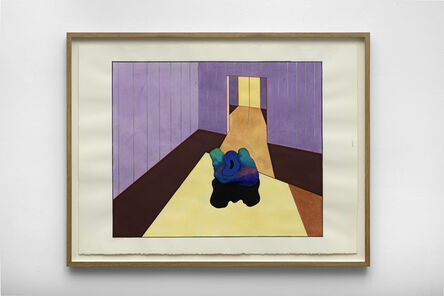 Ken Price, 'Purple Interior with Sculpture', 1990
