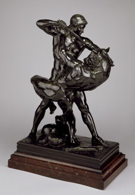 Antoine-Louis Barye, 'Theseus and the Minotaur (Second Version)', Modeled: 1843; first cast of second version: 1857