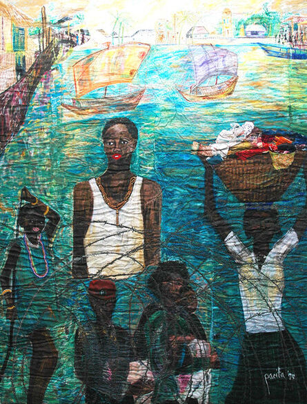 Pacita Abad, 'Haitians waiting at Guantanamo Bay', 1994
