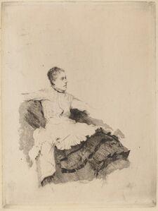 "Giuseppe De Nittis, 'Portrait of Madame de Nittis (""Attenzione"")', 1874/1875"