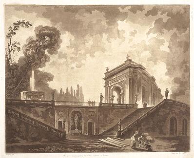 Jean Claude Richard de Saint-Non (author), 'Vu‰ prise dans les jardins de Villa Albani a Rome', 1768