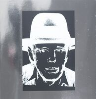 Andy Warhol, 'Joseph Beuys on Heavy Silver Metallic Paper', 1988