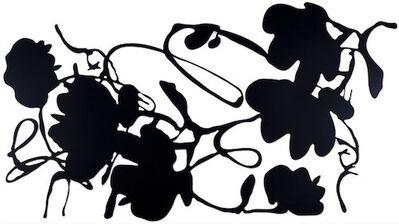 Donald Sultan, 'Black Lantern Flowers', 2016