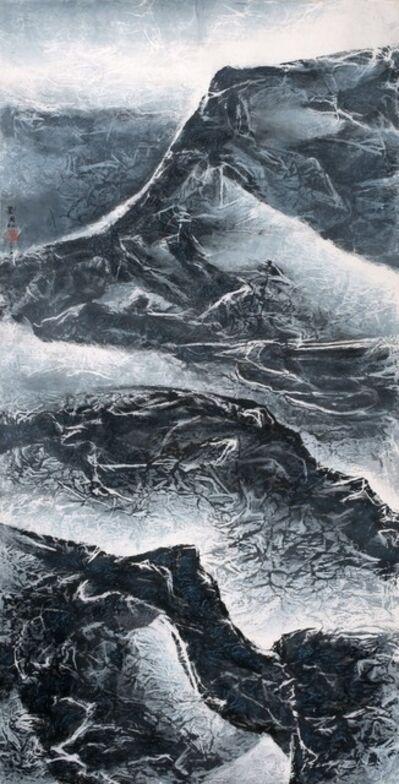 Liu Kuo-sung 刘国松, 'Skyscraping mountains 嶽上摩天', 2015