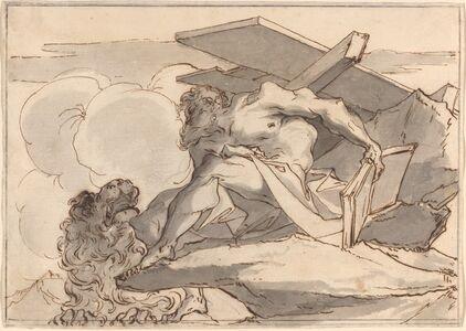 Paul Troger, 'Saint Jerome in the Wilderness'