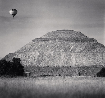 Michael Kenna, 'Balloon and Pyramid of the Sun, Teotihuacon', 2006