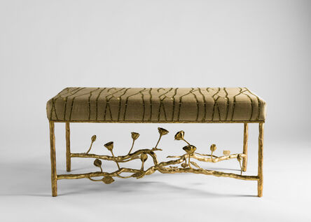 Marc Bankowsky, 'Roses, Contemporary Bench with Floral Motif', France 2015