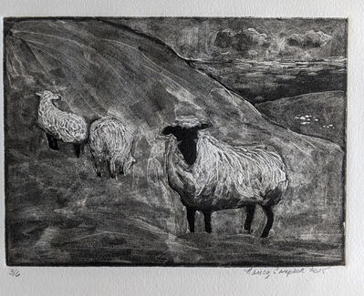 Nancy Campbell, 'Sheep On a Hill', 2015