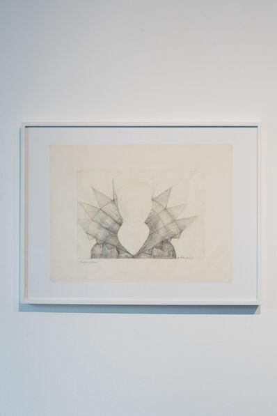 Ulrike Rosenbach, 'Haubenzeichnung C, akademischer Stil', 1969