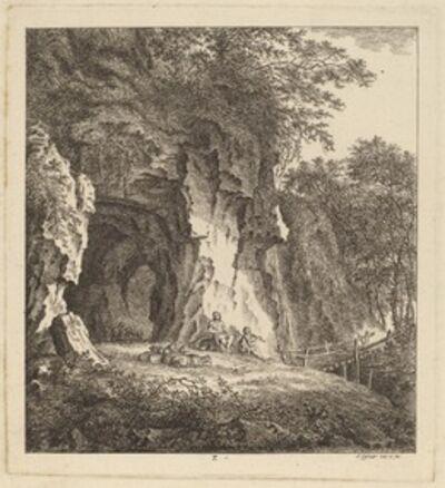 Salomon Gessner, 'Two Shepherds in a Rocky Landscape', 1764