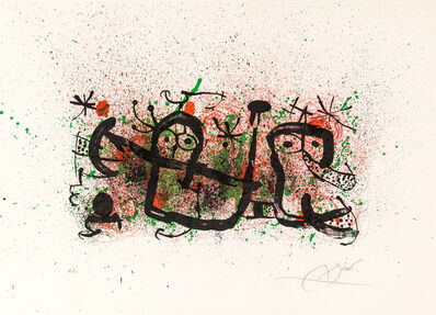 Joan Miró, 'Plate 5, from Ma de Proverbis', 1970
