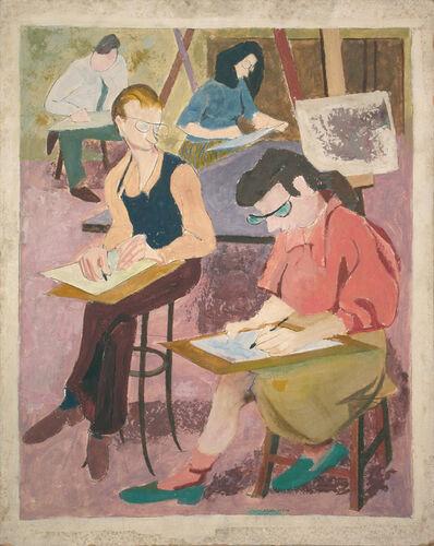 Philip Pearlstein, 'Art Class', 1946-1947