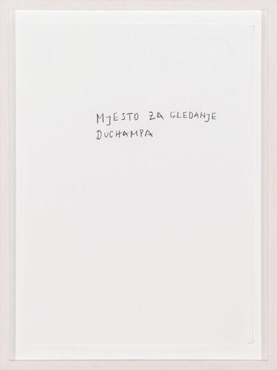 Vlado Martek, 'The look-out for Duchamp', 2012