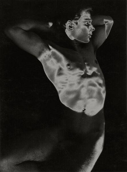 Herbert List, 'Young Man Nude Solarisation, Munich, Germany ', 1958