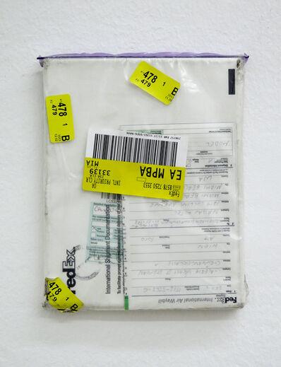 Karin Sander, 'Mailed Painting 92, Sydney-Pittenweem-München-Berlin-Wien-Miami-Wien', 2008