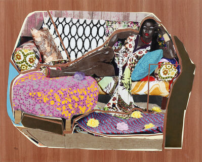 Mickalene Thomas, 'You're Ganna Give Me the Love I Need', 2010