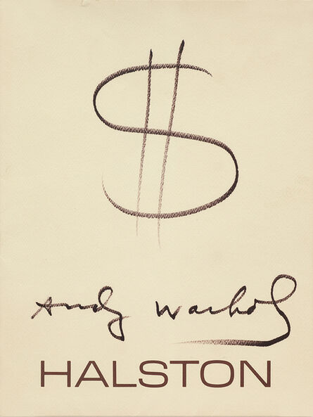 Andy Warhol, 'UNTITLED (HALSTON $ SIGNED DRAWING) ', 1982