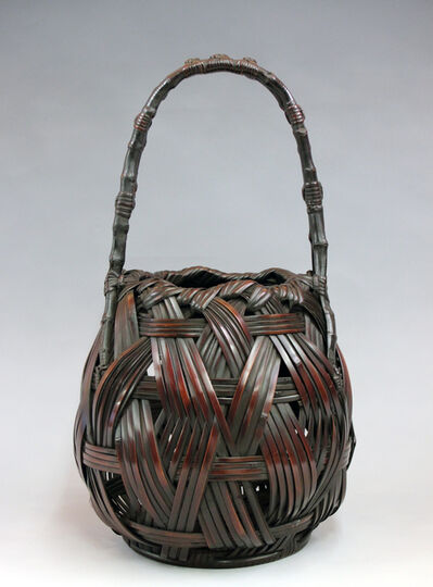 Maeda Chikubōsai I, 'Banana Leaf Plaited Flower Basket ', 1940-1949
