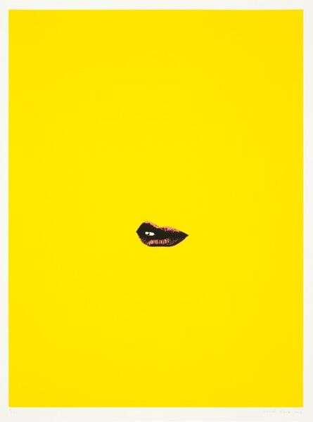 Gavin Turk, 'Sneer (Yellow)', 2013