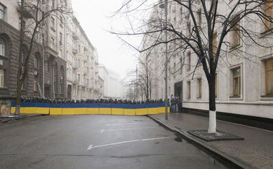 Donald Weber, 'From the series Architecture of Siege (Barricade), Bankova Street, Presidential Administration I, Before February 18', 2014