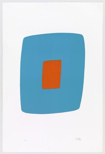 Ellsworth Kelly, 'Light Blue with Orange', 1964-1965