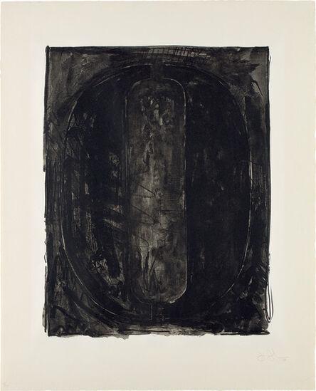Jasper Johns, 'Figure 0, from Black Numeral Series', 1968