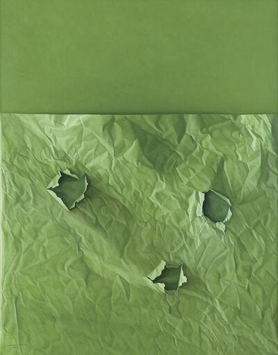 Claudio Bravo, 'Green Paper on Green Background', 2007