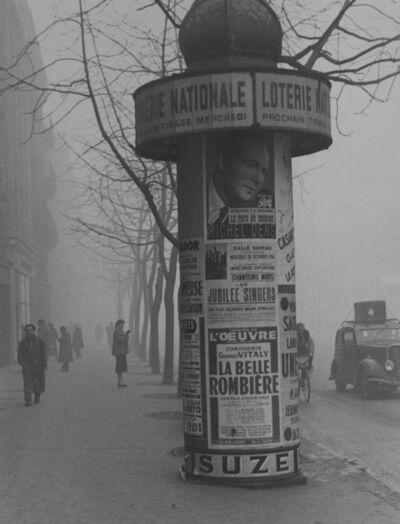 Todd Webb, 'Avenue du Maine (Loterie Kiosk), Paris', 1950