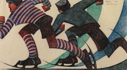 Sybil Andrews, 'Skaters', 1953