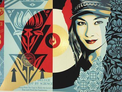 Shepard Fairey, 'Shepard Fairey Raise The Levels Print Obey Giant Poster 2019 Street Art Pop Art', 2019