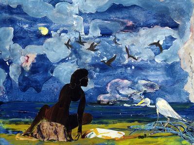 Romare Bearden, 'Woman and Egret', 1975