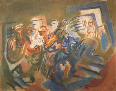Germaine Derbecq, 'La familia en el jardín ', 1935