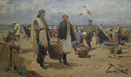 Semen Natanovich Guetsky, 'Latvian fishermen', 1948