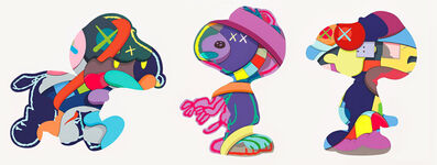 KAWS, 'NO ONE'S HOME, STAY STEADY, THE THINGS THAT COMFORT (complete set of 3 works)', 2015